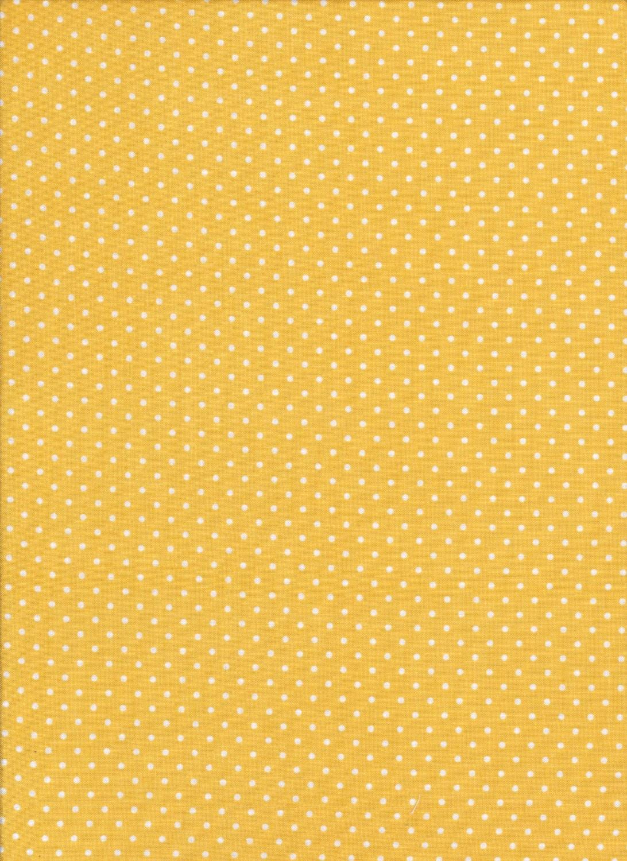 Yellow Fabric - White Swiss Dots - Riley Blake Fabric - Polka Dot ...