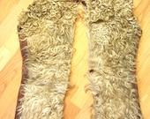 Antique Vintage Cowboy Leather Wooly Chaps made by JM Capriola, Elkon NV