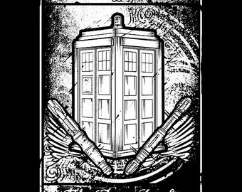Doctor who Time lord tarot card shirt