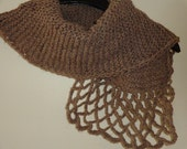 Gorgeous Knitted & Crocheted Shawl  / Elegant and Warm Winter Scarf / Gift for Her / Handmade Shawl / Knitted Neckwarmer