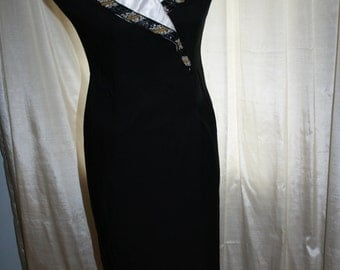 Formal Vintage Evening Gown/ Vintage Black Evening Wear/ 1980s Dress/ Every Beauty Gown