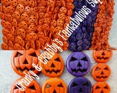 25mm, 20mm,  or 15mm  Jack O' Lantern Beads- Chunky Necklaces - Strand of 16, 21, 26  -  Natural Stone Halloween