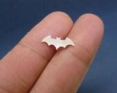 a925 sterling silver ear studs,Batman Logo Shaped stud earrings, sterling silver bat earrings