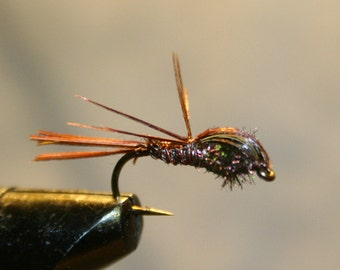 Made in Michigan Fishing Fly - Hand-tied - Pheasant Tail Nymph Variant - Number 10 Hook