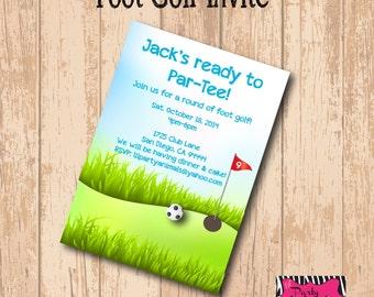 DIY Printable Foot Golf Party Invite