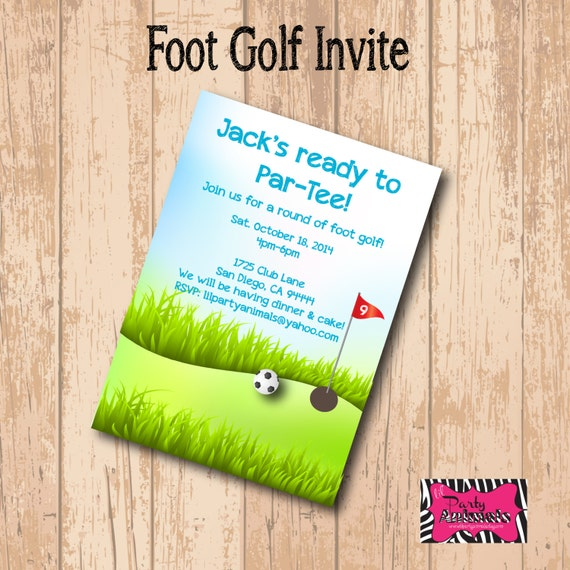 DIY Printable Foot Golf Party Invite – Golf Party Invites