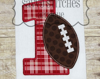 Football Number Set Machine Embroidery Applique Design