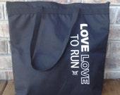 SALE Love Love To Run Tote Bag - Black