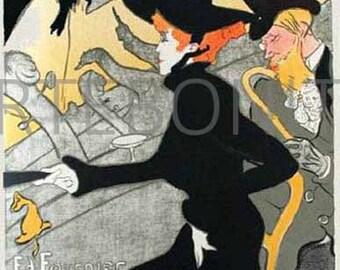 """Divan Japonais"""" Lithograph by Henri de Toulouse Lautrec printed 1966  -h"""