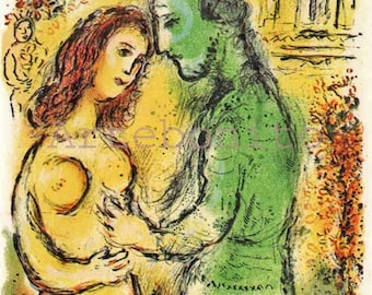 "Chagall Lithograph Odyssey vol 1 ""Ares and Aphrodite"" 1989"