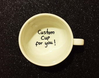 Custom cup, Announcement cup, proposal cup, personalized cup, custom cup, coffee cup. tea cup