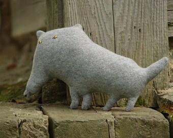 Stuffed toy wolf