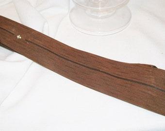 Retro Brown Silk Skinny Tie by The Leavitt Co.