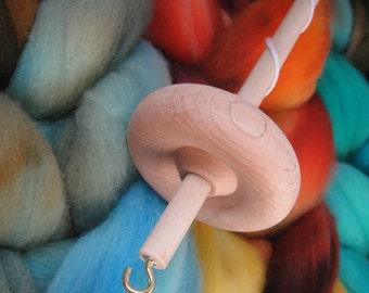 4oz Hand-dyed Beginner Spindle Kit Top Whorl Handspinning Handspun Spinning Wool Yarn Fiber Roving Drop Spindle