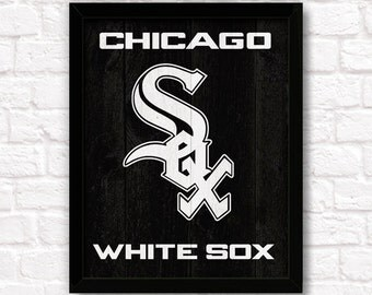 Chicago WHITE SOX rustic handmade sign - Chicago White Sox fan wall sign Sports Bar Boys room Man Cave decor- Fathers Day gift for Dad