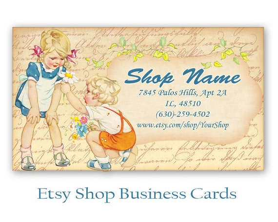 Etsy shop business cards Personalized pre made business cards