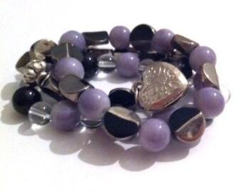 Set of 3 pearl bracelets