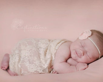 Newborn Photo Prop: Rose Ribbed Blanket for Newborn Photo Shoot, Bean Bag Cover, Posing Blanket, Fabric Newborn Backdrop