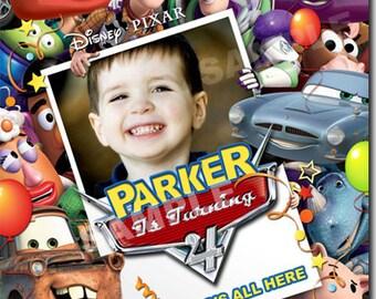 Toy Story Cars birthday Invitation - Printable Toy Story Cars birthday Invitation