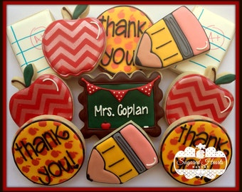 Teacher Appreciation/Back to School Cookies