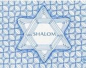 Blank Hanukkah Note Card