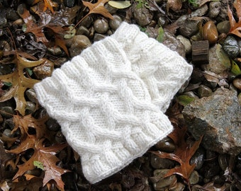 Cabled Knit Boot Cuffs - Boot Sweaters - Handmade Boot Cuffs - Cable Boot Cuffs