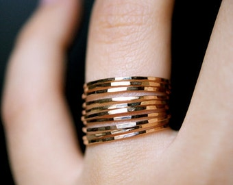 "Stackable rings // Thin  ring // gold ring // silver ring //  Thin Stackable ring // ""Thin Mints"""