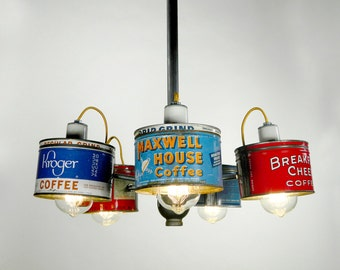 Chandeliers, Lighting, Unique Chandelier, Custom Lighting, Repurposed Chandelier, Upcycled, Handmade, Kitchen lighting, Kitchen Decor