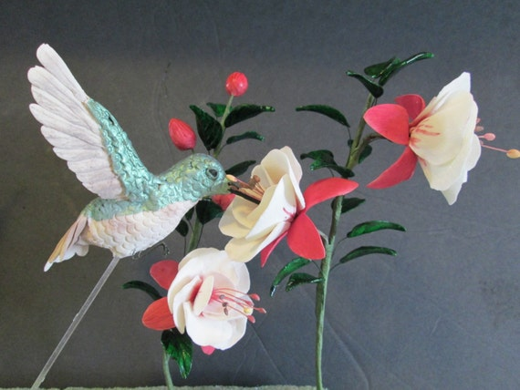 Cake With A Humming Bird Topper