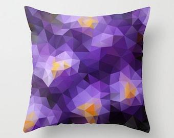 Decorative Pillow Decor throw pillow Pillow Cover Pillow Case Modern Pillow Decorative Throw Art Cover Geometric Pillow Violet Cover Pillow