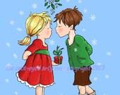 digital stamp/image, digistamp/ digi stamp downloadable image  christmas