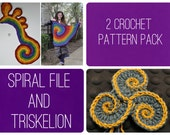 Crochet Pattern Pack - Triskelion and the Spiral File