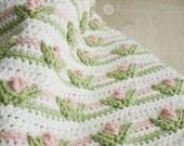 Crochet Pattern, Baby Blanket, Little Dutch Girl