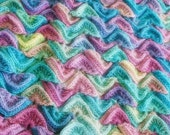 Crochet Pattern, Sea Song Blanket, Baby, Afghan