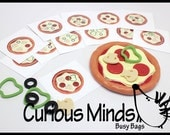 Pizza Shop Busy Bag - Make Pizza Based on The Pattern Cards