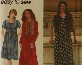 Dress & Vest - 1990's -  Simplicity Pattern 7199 Uncut  All Sizes 18-20-22-24  Bust 40-42-44-46""