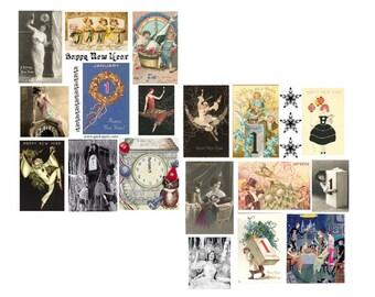 SALE>>>>>>>Happy New Years Digital Collage Set<<<<<<<<<SALE
