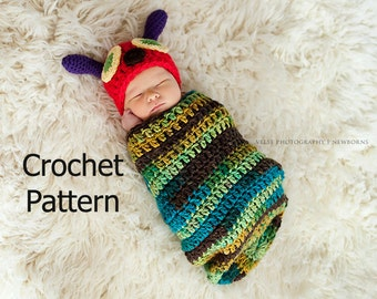 Very Hungry Caterpillar Crochet Hat Pattern Free : CATERPILLAR COCOON CROCHET PATTERN FREE CROCHET PATTERNS