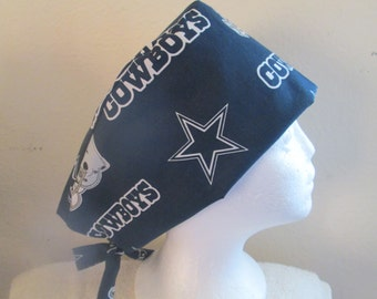 Skull Cap, Chemo Cap, Dallas Cowboys, Riding Cap  Surgical Cap