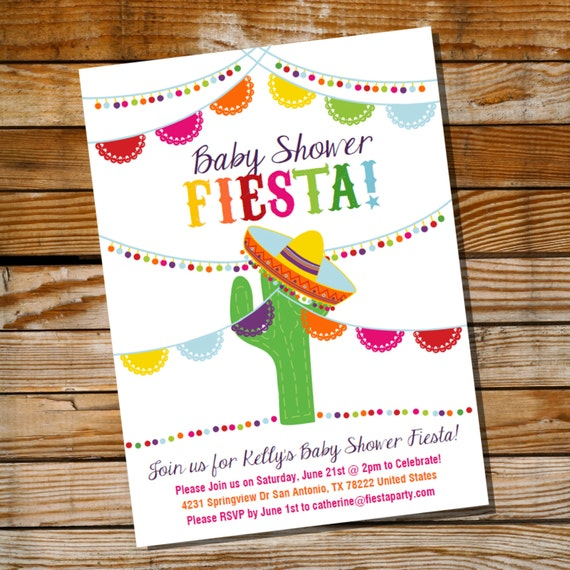 Fiesta Baby Shower Invitations can inspire you to create best invitation template