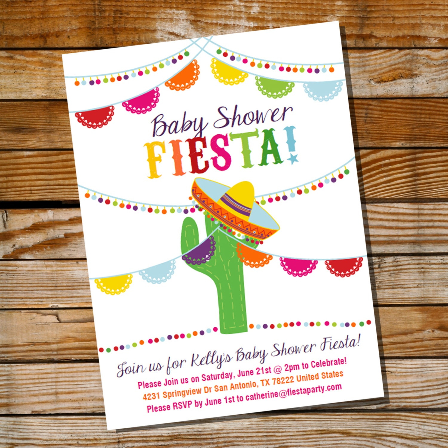 fiesta invitation  etsy, invitation samples