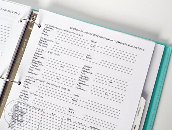 Ultimate Wedding Planner - Over 75 Organizational Printables - Wedding Binder Set - INSTANT DOWNLOAD