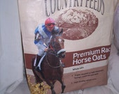Upcycled Recycled Feed Reusable Tote Shopping Bag - Race Horse Nutrena Premium Oats