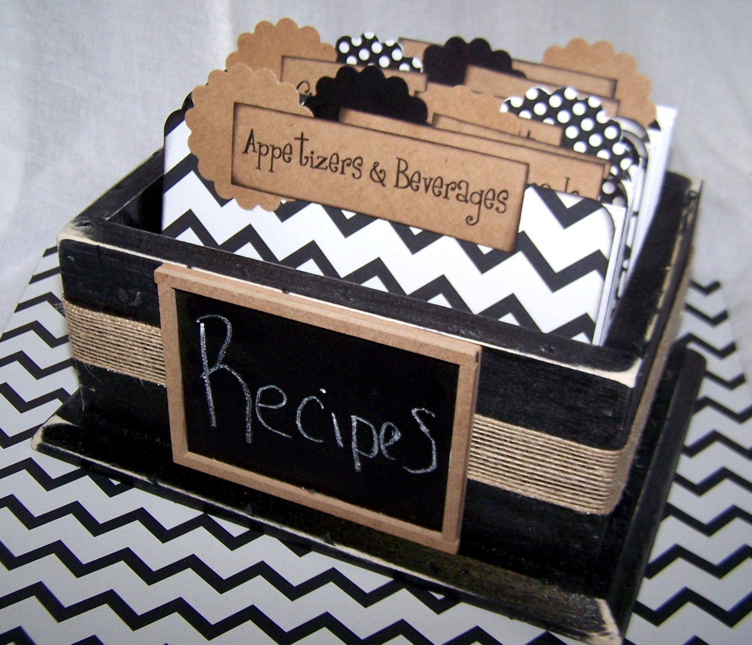 Chalkboard Recipe Cards Dividers Recipe Cards