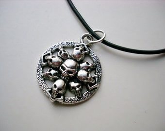 Skull Pile Necklace
