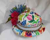 Gorgeous handmade pincushion hat
