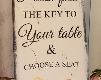 Wedding signs/ Reception tables/Seating Plan/Seating Assignment Sign/Choose a Seat/Key to Your table/Key