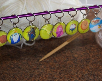 Adventure Time Stitch Markers (Set of 8)
