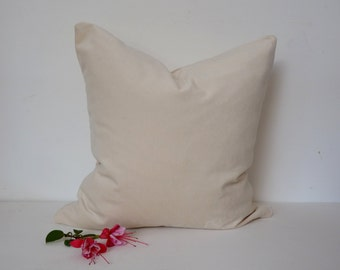ivory velvet pillow case // cream velvet cushion case // ivory pillow // cream ivory decor