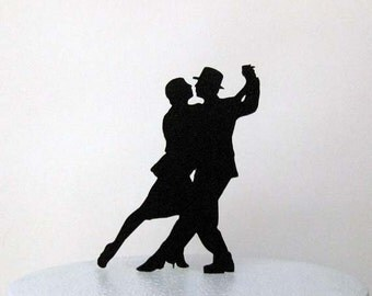 Wedding Cake Topper - Tango Dance Wedding Cake Topper